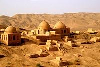Desert. Muslim cemetery. Turpan. Sinkiang, China