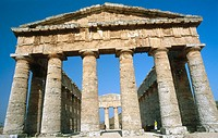 Doric temple, ruins of the ancient Greek city of Segesta. Sicily, Italy