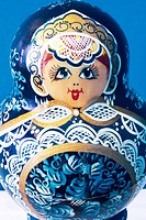 blue matrioska doll