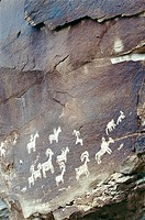 Petroglyphs, Anasazi culture. Arches National Park. Utah. USA