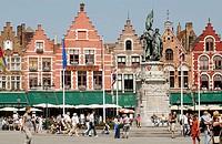 Markt (Market Square). Brugge. Flanders, Belgium