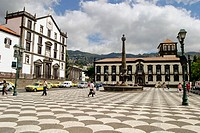 Colégio dos Jesuitas church and Townhall. Praça do Municipio. Funchal. Madeira. Portugal.