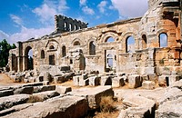 Ruins of Symeon (Qalaat Seman, Deir Samaan) in Northern Syria