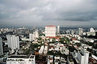 Skyscraper. View from Baiyoke Hotel. Bangkok. Thailand.