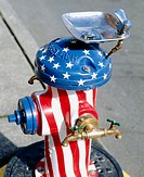 Drinking fountain on decorated fire hydrant. Anacortes, Fidalgo Island. Skagit County, Washington, USA