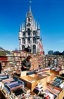 Second hand books sales. City Hall. Gouda. Netherlands.