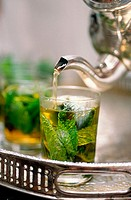 Tea time. Riad Maison Bleue. Fes. Morocco.