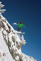 action, Europe, extreme, extreme sport, Free riding, jump, man, , mountains, steep slope, rock, snow,