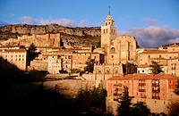 Albarrac&#237;n at dawn. Teruel province, Spain