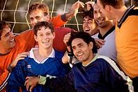 Soccer team together