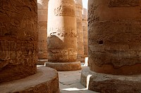 Bases of columns at Karnak. Luxor, Egypt