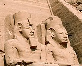 Statue detail of Ramses II at Abu Simbel, Egypt