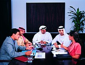 Meeting of Arab businesspeople