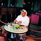 Arab businessman during coffee break