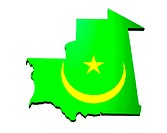 map and flag of Mauritania