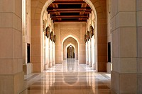 Interior of the Sultan Qaboos Mosque, Oman (thumbnail)