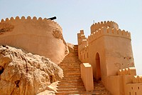 Stairs up to Nakhal fort, Oman