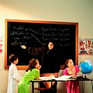 Teacher and pupils in classroom (thumbnail)