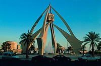 Clock Tower Roundabout in Dubai, UAE