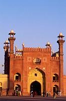 Badshahi mosque. Moghol period. Lahore. Punjab province. Pakistan