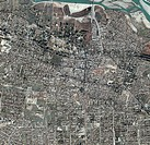 Jalalabad, Afghanistan. Satellite image of Jalalabad, the capital city of the Nangarhar province in Afghanistan. It is located 150 kilometres east of ...