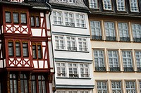Germany. Frankfurt on the Main, Hesse, Röme. Half timbered houses