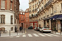 Paris street scene near Notre Dame. France