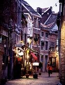 Lüttich-Outre-Meuse/ Rue Roture, Abendstimmung