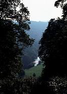 Duncombe Park/Aussicht vom Dorischen Tempel