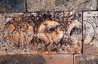 Qintanilla de las Vinas/ Sta. Maria, 7.Jh., Details der Friesdekoration 1