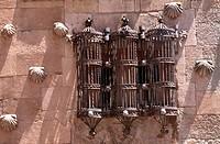 Salamanca/ Casa de las Conchas, um 1500, Detail