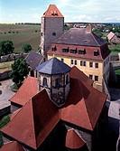 Querfurt, Burg/ Kapelle, Fürstenhaus und Marterturm von Nord-Ost