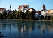 Wasserburg/Inn, Burg und Ufer/S&#252;dansicht