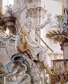 Vierzehnheiligen, Gnadenaltar in der Wallfahrtskirche/ Heiliger Eustachius, Patron der Jäger und Förster