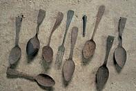 italy, veneto, altipiano di asiago, monte lagazuoi, finds of the first world war (1915-1918)