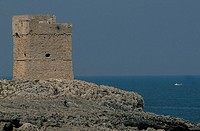 italy, puglia, marina serra, tower view
