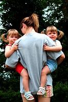 woman, twins