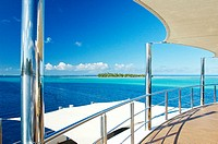 "Cruise on the luxury 30 cabins yacht ""Tia Moana"". Leeward islands. French Polynesia. South Pacific"