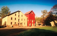 Prallsville Mills historic mill. Stockton, New Jersey, USA