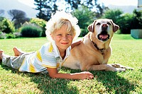 Boy with labrador