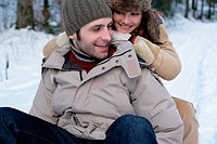 Couple on a sled