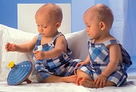 TWINS<BR>Models.<BR>11-month-old twins.