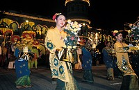 Cultural dance, Merdeka Square, Kuala Lumpur, Malaysia