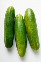 Three fresh cucumbers