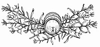 Tarragon with wooden barrel (illustration) (thumbnail)