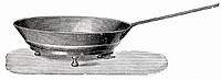 Old frying pan (illustration)