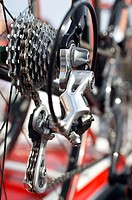 Gear change, competition bicycle
