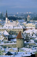 Old town from Toompea. Tallinn, Estonia