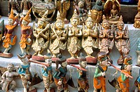 Close-up of statues for sale, Myanmar