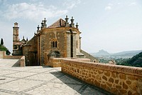Back view of St. Mary's collegiate church (16th century), Antequera. Málaga province, Andalusia. Spain